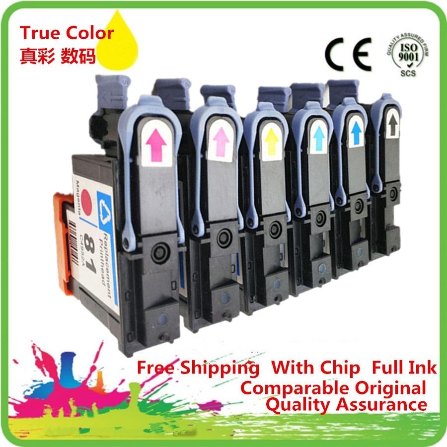 1 Set Remanufactured Printhead Print Head For HP81 HP 81 C4850A C4851A C4852A C4853A C4854A C4855A Designjet 5000 5500PS HP5000 1 set compatible print head 6 color for hp 81 for designjet 5000 5500 5500ps for hp81 printhead c4950a c4955a cartridge head