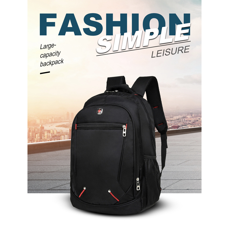 LJL Casual Solid Color Material Oxford Man's Backpack Multi-functional Large-capacity Student Schoolbag Simple Bag(China)