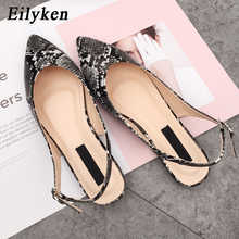Eilyken New Serpentine Women's Flats Shoes Sandals For Spring 2019 Mules Flats Shoes Women's Buckle Strap Loafers Sandals