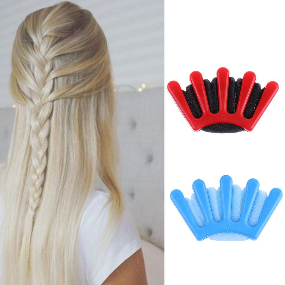 Charming French Style 1pcs Women Girls DIY Sponge Hair Braider Plait Hair Twist Braiding Tool Hair Styling Tools