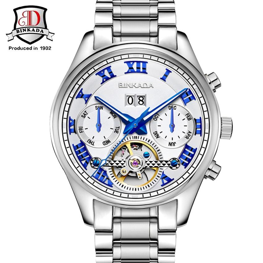 Hommes montre de luxe automatique mécanique inoxydable Reloj Hombre Horloges Mannen Steampunk automatique auto-vent Horloges Vrouwen