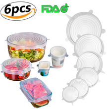 Silicone Food Lids Reusable Stretchable Durable Covers Various Sizes for Cups, Bowls, Mugs, Dishes