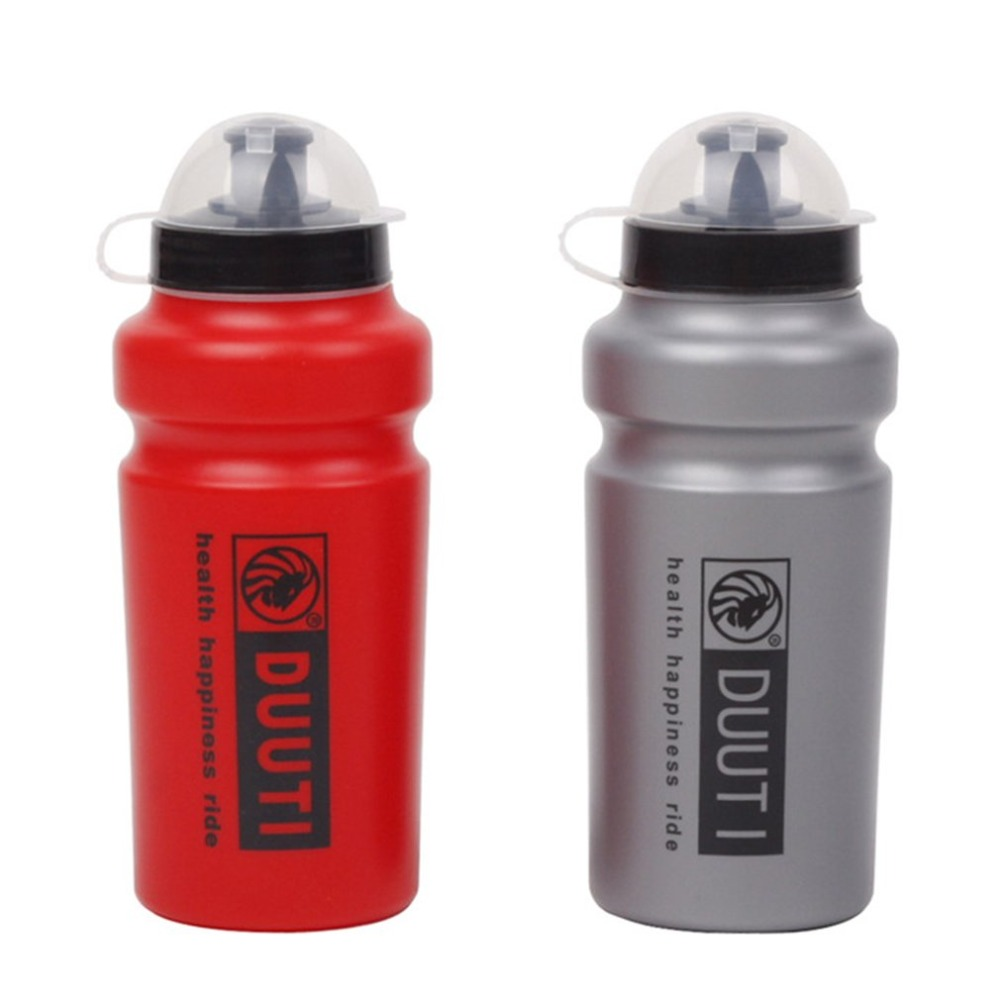 DUUTI 500ML Bike Water Bottle Bicycle Portable Kettle Water Bottle Plastic Outdoor Sports Mountain Bike Cycling Accessories Red