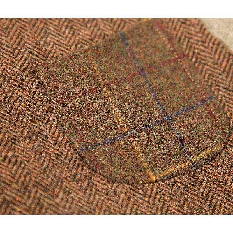 Marke Männer Clothing2016Autumn Winter 31.2% Wolle männer casual slim fit anzug weste weste männer woolen formale hochzeit gilet V ausschnitt - 5