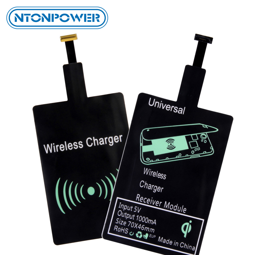 NTONPOWER QI Wireless Charging <font><b>Charger</b></font> Receiver Module Pad for Micro-<font><b>USB</b></font> <font><b>Type</b></font> <font><b>C</b></font> Wireless Charging For <font><b>Samsung</b></font> Xiaomi Huawei image