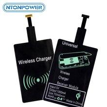 Ntonpower qi carregamento sem fio carregador receptor módulo almofada para micro usb tipo c de carregamento sem fio para samsung xiaomi huawei