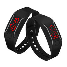 Men Women Silicone Red LED Watch Date Sports Bracelet Digital Wrist Watches For Lady Girls Male Relogio Feminino Reloj Hombre(China)