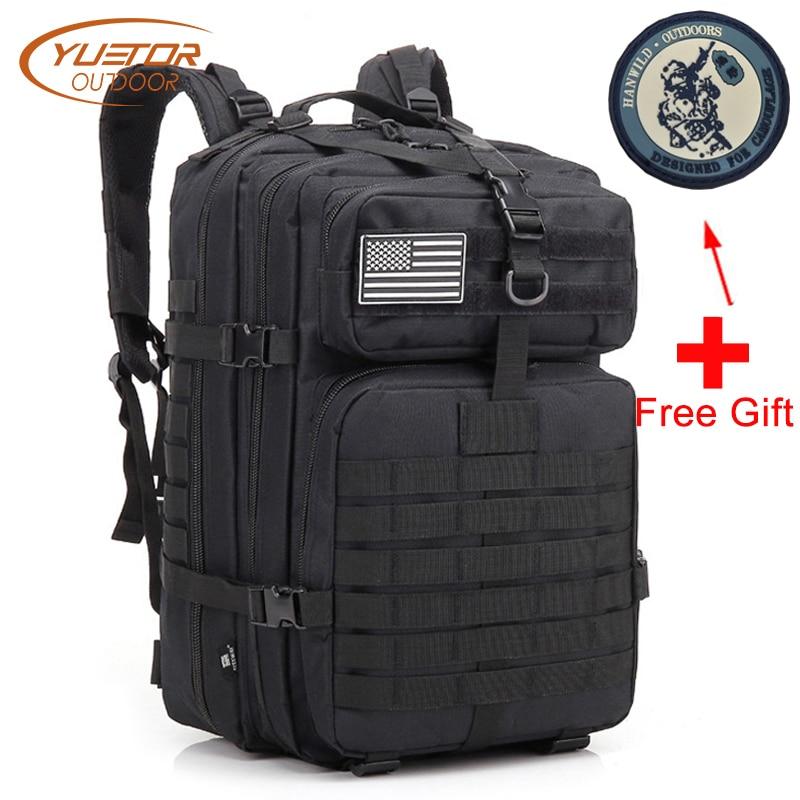 Mochila militar YUETOR al aire libre Molle impermeable 40 L Paquete de asalto de gran capacidad mochilas tácticas para senderismo Camping caza