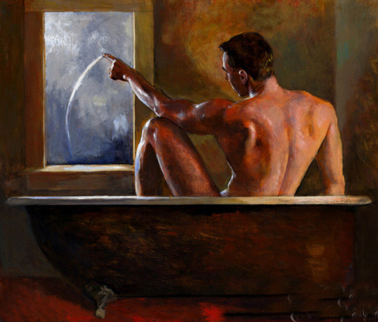 Painting A Naked Gay Tube