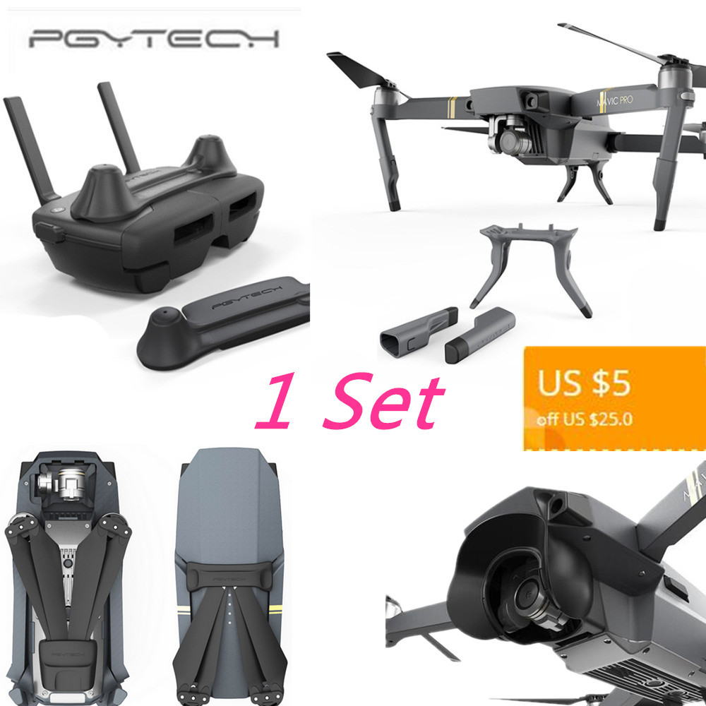 PGYTECH Drone Set Stick Rocker Protector Holder Extended Leg Protector Sun Shade Holder Protection Guard for DJI MAVIC PRO
