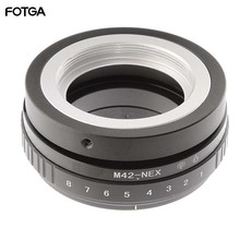 FOTGA 틸트 시프트 어댑터 링 M42 렌즈 용 Sony NEX E 마운트 카메라 ILCE 7 A7S A7R II A5100