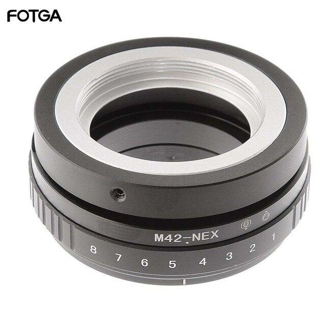FOTGA Tilt Shift Adapter Ring für M42 Objektiv Sony NEX E Mount Kamera ILCE 7 A7S A7R II A5100
