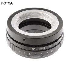 FOTGA Tilt vites adaptör halkası M42 Lens Sony NEX E montaj kamera ILCE 7 A7S A7R II A5100