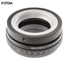 FOTGA anneau adaptateur de changement dinclinaison pour objectif M42 vers Sony NEX E monture caméra ILCE 7 A7S A7R II A5100