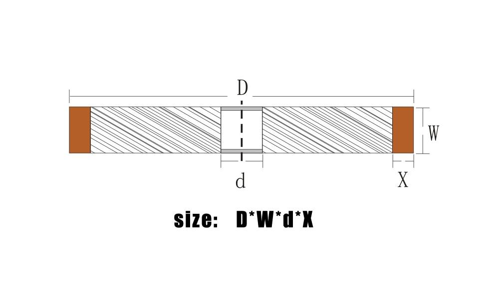 xintylink mola diamantata parallela resistente diamantata 180 grinder - Utensili abrasivi - Fotografia 6