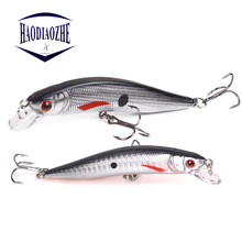 Купить с кэшбэком HAODIAOZHE Minnow Fishing Lures Wobblers 10cm 8.3g 3D Eyes artificial Hard Quality Professional CrankBbaits 6# Hook Pesca YU42