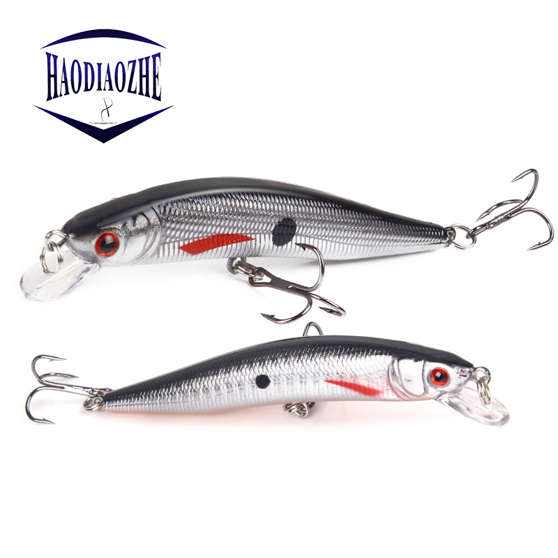 3.93/'/' Minnow Fishing Lures Crankbaits Hook Bass Tackle Freshwater 10cm 8.3g New