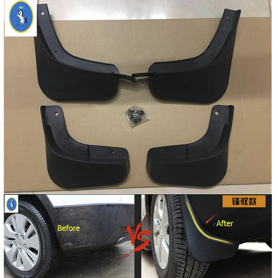 New Style ! For Suzuki SX4 s-cross 2017 2018 Plastic Front & Rear Mud Guard Mudguards Splash Flaps Cover Kit 4 Piece where s mrs ladybird felt flaps