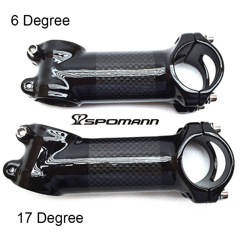 Aluminum Carbon Fiber MTB Road Bike stem Bicycle Handlebar stem 6degree 60-120mm