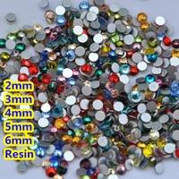 Грани плоской задней смола горный хрусталь разноцветные 2 мм, 3 мм, 4 мм, 5 мм, 6 мм Дизайн ногтей Самоцветы украшения