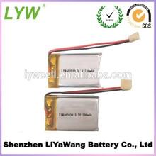 5X ultra thin LP402030 3 7v 200mah li po battery for font b smartwatch b font