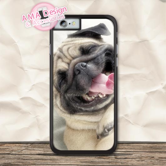 Sleepy Pug Lovely Animal Protective Case For iPhone X 8 7 6 6s Plus 5 5s SE 5c 4 4s For iPod Touch