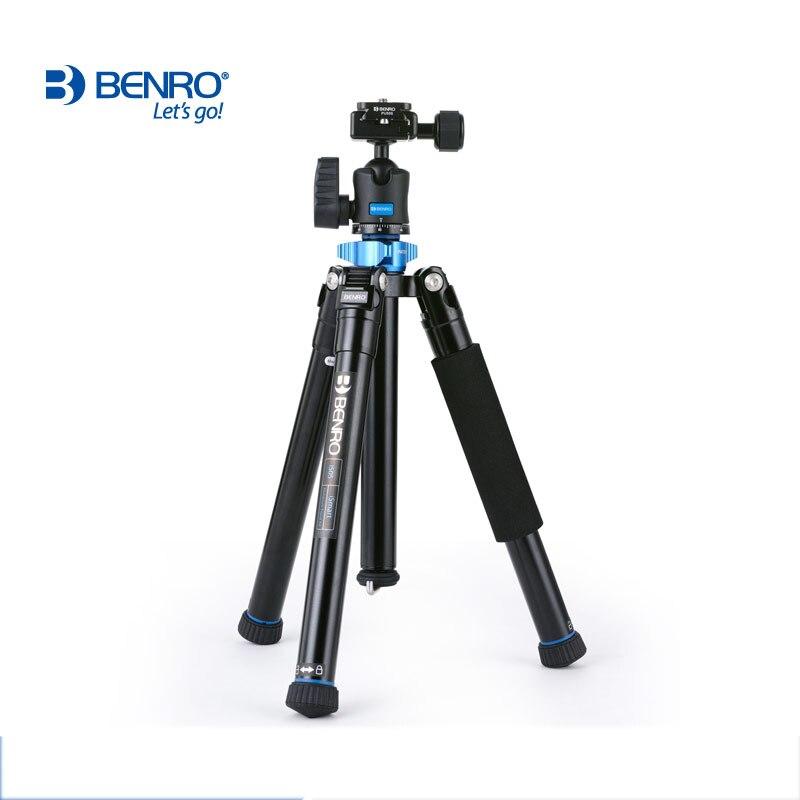 Benro IS05 trépied réflexé monopode Selfie bâton Mini trépied Portable pour appareil photo avec tête à rotule H00S 5 Section DHL livraison gratuite