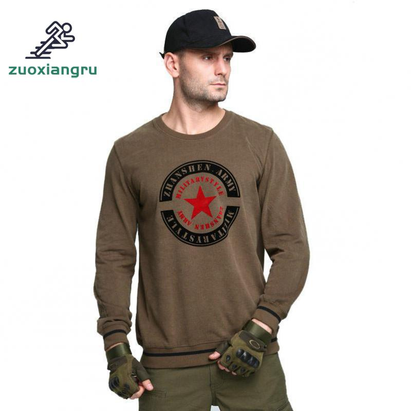 Zuoxiangru New Tactical Military Camouflage T Shirt Male Breathable Quick Dry Us Army Combat Full Sleeve Outwear T-shirt For Men