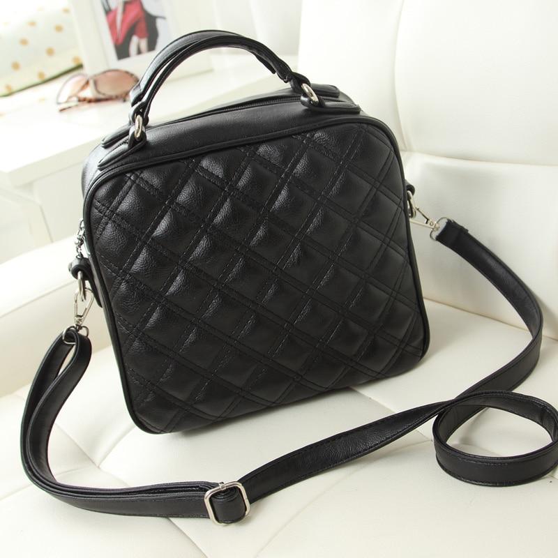 ФОТО 2017 fashion women leather handbag plaid small Shoulder Crossbody flap bag women messenger bags