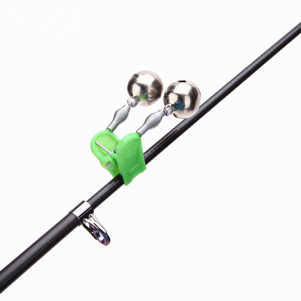 5PCS Or 10PCS/lot Bite Alarms Fishing Rod Bells Fishing Accessory Rod Clamp Tip Clip Bells Ring Green ABS Outdoor Accessory