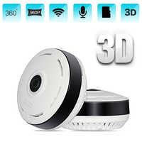 HD 960P Wifi IP Camera Home Security 360 Degree Panoramic Fisheye Mini CCTV Camera 1.3MP Home Surveillance Wireless Camera