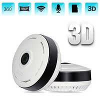 HD 960P Wifi IP Camera Home Security 360 Degree Panoramic Fisheye Mini CCTV Camera 1.3MP Home Surveillance Wireless Camera