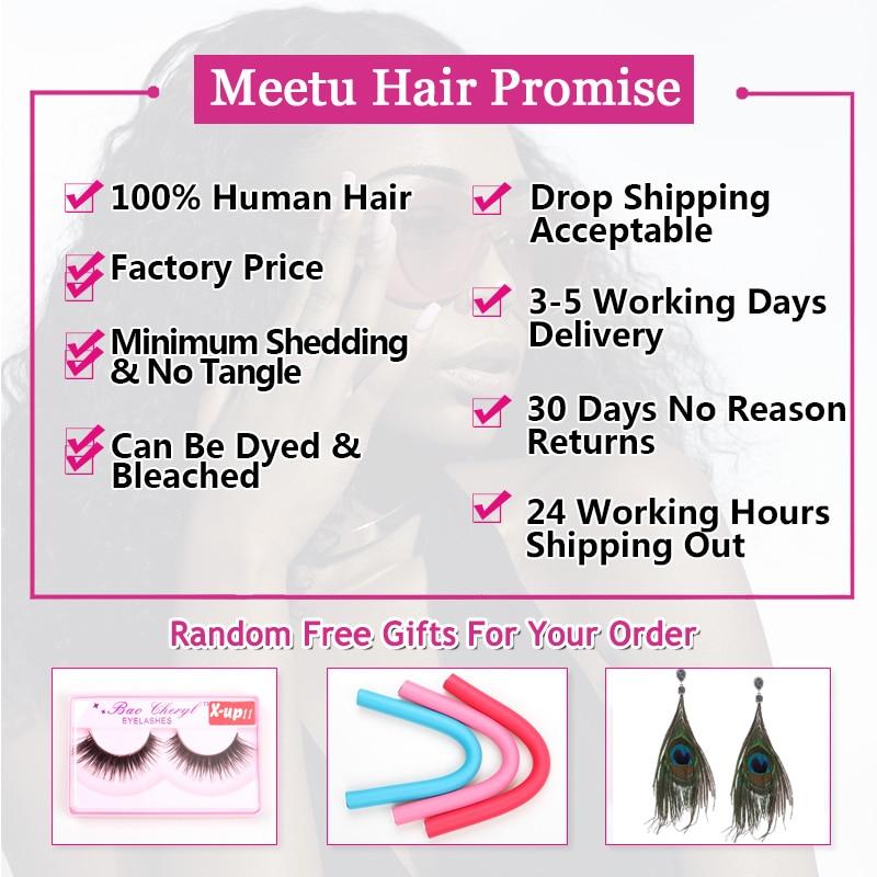 4 Bundles Brazilian Body Wave Bundles Deal Meetu Braziian Human Hair - Skönhet och hälsa - Foto 2