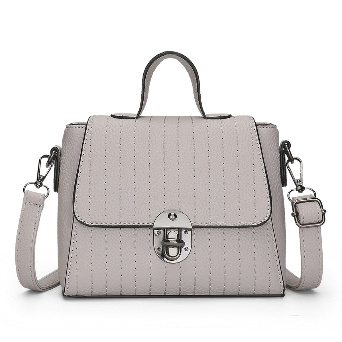 f9a69f8536bf US $21.55 47% OFF PONGWEE 2017 New Women's Bag Fashion Car Stitch Hand  Messenger Bag Korean Version Of The Lock Bag Female-in Shoulder Bags from  ...