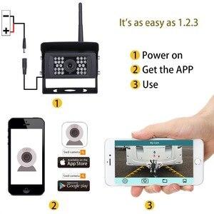 Image 4 - GreenYi kablosuz geri görüş kamerası kamyon, RV,Camper, römork. WiFi araç arka görüş kamerası çalışmak ile iphone veya android cihazlar