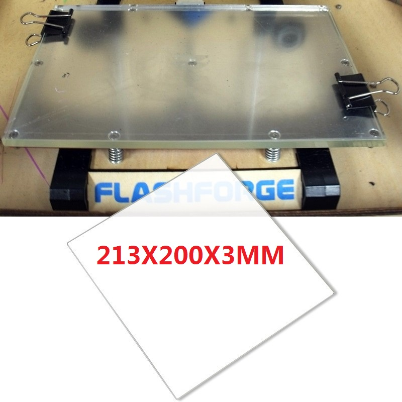 Build printer plate borosilicate glass 213X200X3MM 3d printer ultimaker flsun 3d printer big pulley kossel 3d printer with one roll filament sd card fast shipping