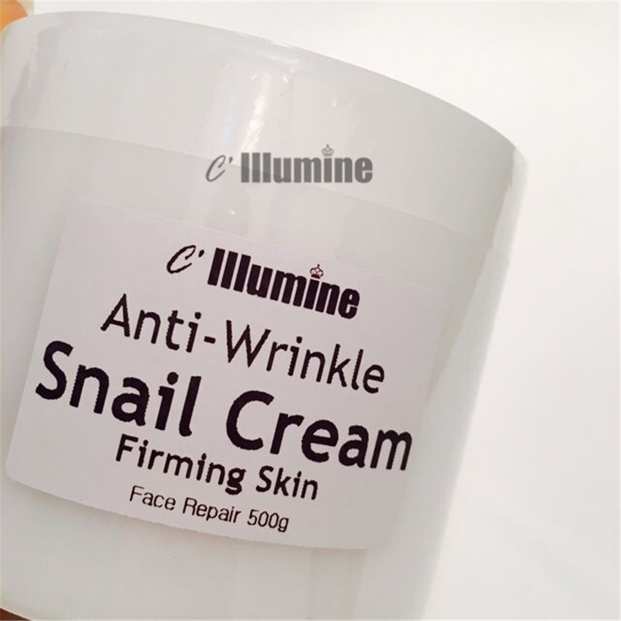 500g Snail Cream Whitening Moisturizing Brightening Firming Neck Cream Facial Lifting Products Senium Pores Beauty Salon OEM