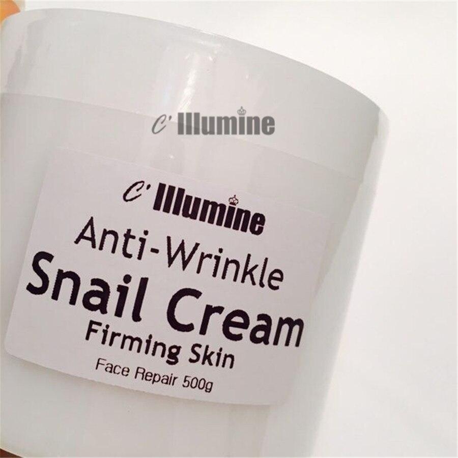 500g crème d'escargot blanchissant hydratant éclaircissant raffermissant crème du cou produits de levage du visage Senium Pores Salon de beauté OEM