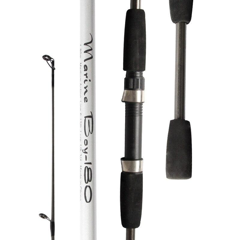 Neue Carbon-Spinning Angelrute M Power Hand Locken Casting Rod glasfaser Canne Spinnng Leurre Angelgerät