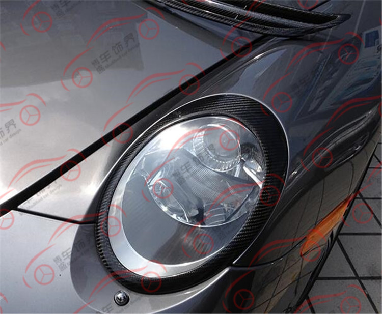 Convient pour 05-11 Porsche 997 911 abat-jour en fibre de carbone