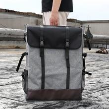 BGLN 1 adet moda 4K açık gri tuval taşınabilir kroki boyama kurulu büyük kapasiteli seyahat omuz eskiz defteri çizim çantası