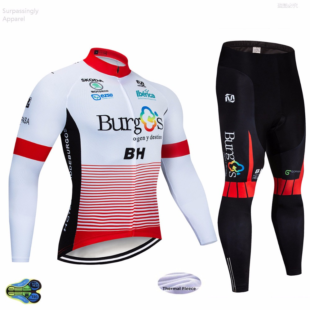 Winter 2019 BH TEAM Cycling Jackets 12D Pad Pants Suit White Ropa Ciclismo Mens Thermal Fleece