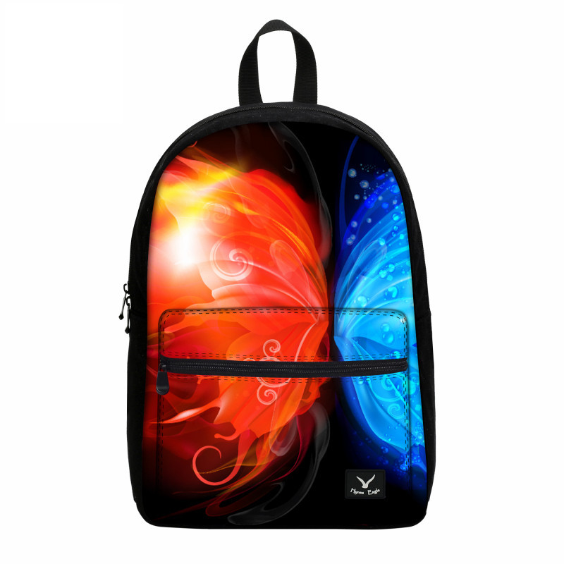 Fashion Printing Butterfly Shoulder Bags Women Backpack Children Canvas Laptop Backpack Travel Bags Girls School Backpack Female 2016 newest wave fashion backpack women casual dackpacks backpack school leisure travel school bags women s shoulder bags bolsos