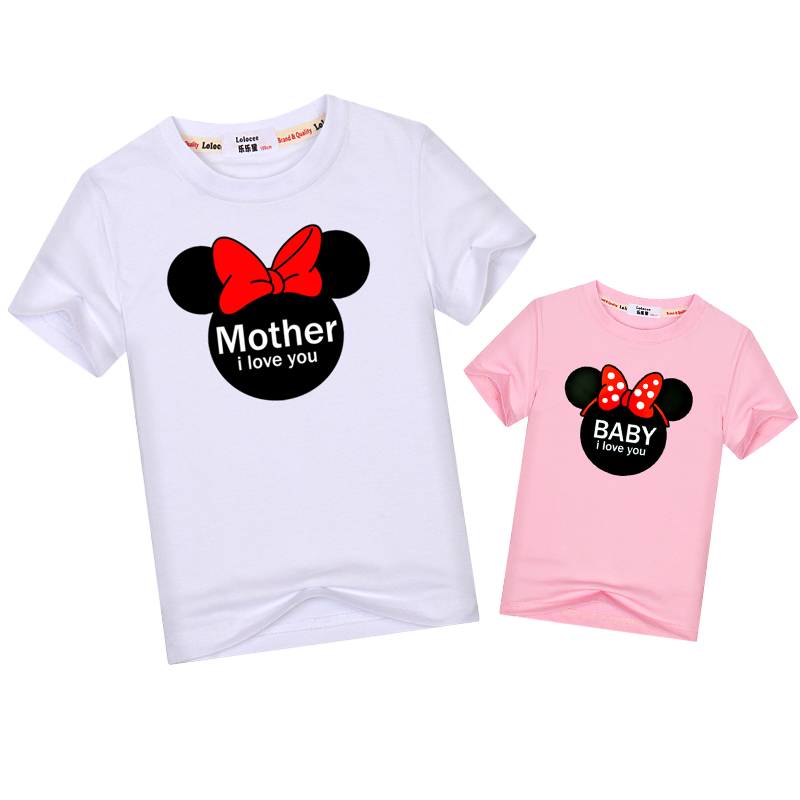 6f6c3d2ca0cdb US $6.5 |Lolocee Family Matching Outfits cartoon mother & daughter summer  dresses mom son parent child clothes kids cotton tops t shirt-in Matching  ...