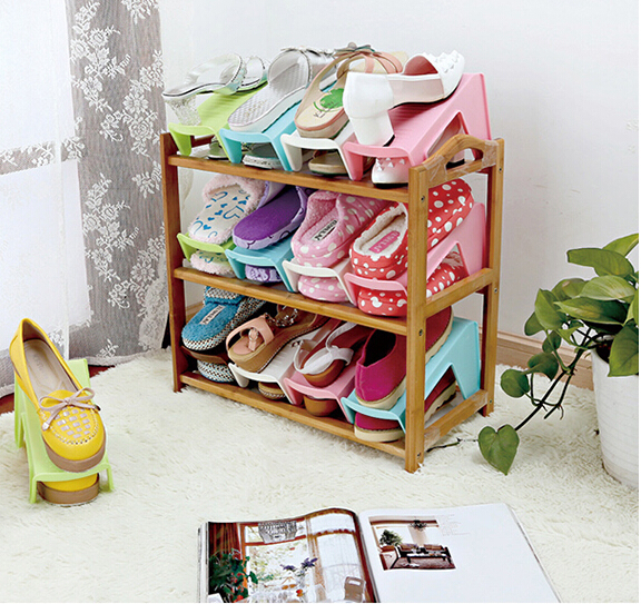 5pcs Fashion Shoe Rack Organizer Plastic Shoe Storage Shelf Shoe Organizer Holder  Space Saver Rangement Chaussures Shoe Cabinet In Shoe Racks U0026 Organizers ...
