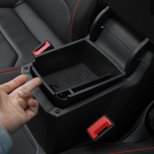 Podłokietnik centrum schowek pojemnik rękawica organizator Case dla Volkswagen VW Tiguan mk2 2016 2017 2018 2019