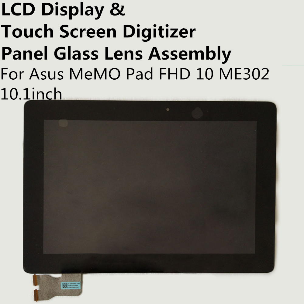 LCD Display + Touch Screen Digitizer Panel Glass Lens Assembly For Asus MeMO Pad FHD 10 ME302 10.1inch Replacement Repair Part new 10 1 inch best quality me302kl lcd for asus memo pad fhd10 me302 lcd display touch screen digitizer assembly