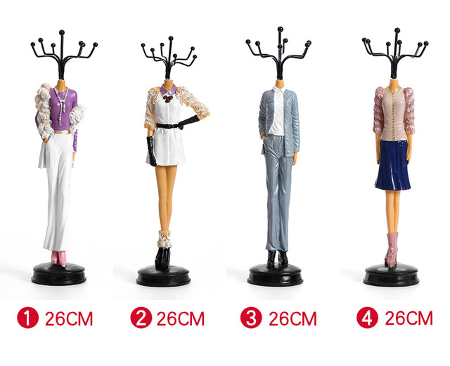 Special Fashion Dress Doll Resin Earrings Necklaces Holder Case