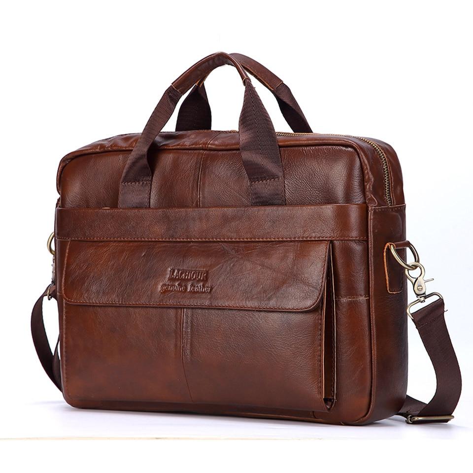 Мужские сумки из натуральной кожи, повседневные кожаные сумки для ноутбука, мужские деловые дорожные сумки-мессенджеры, мужская сумка чере...