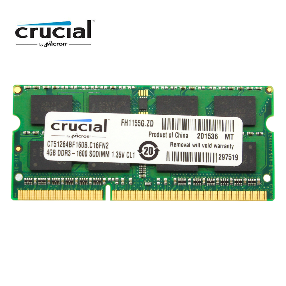Crucial Ram Ddr3 4gb 8gb Ddr3l 1600hmz 1333mhz 1066mhz 2gb 8 Gb Pc3l V Gen Pc 10600 12800 Memory Sodimm Notebook Laptop 12800s 135v For Sdram In Rams From Computer Office On
